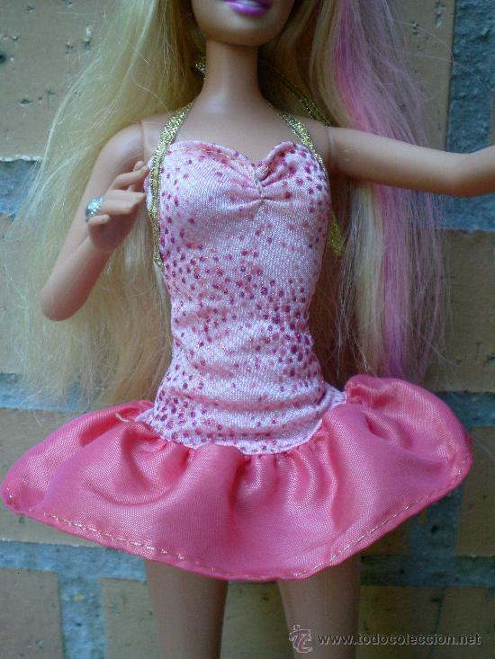 Barbie y Ken: Muñeca Barbie Mattel 1999 completa, pelo con mechas rosas - Foto 2 - 38827658