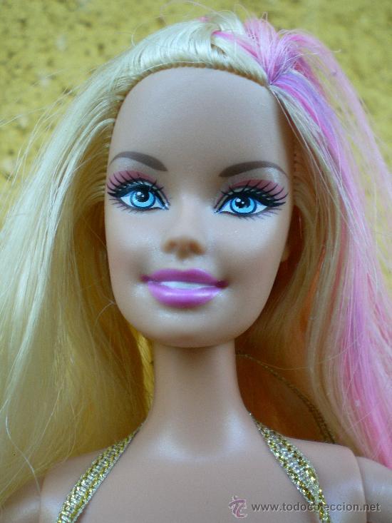 Barbie y Ken: Muñeca Barbie Mattel 1999 completa, pelo con mechas rosas - Foto 5 - 38827658