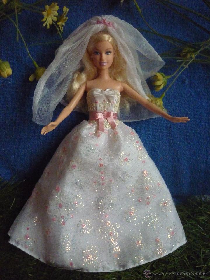 Muneca barbie vestido de novia