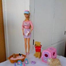 Barbie y Ken: BARBIE Y SUS MASCOTAS COMPLETA CON ACCESORIOS. Lote 50620206