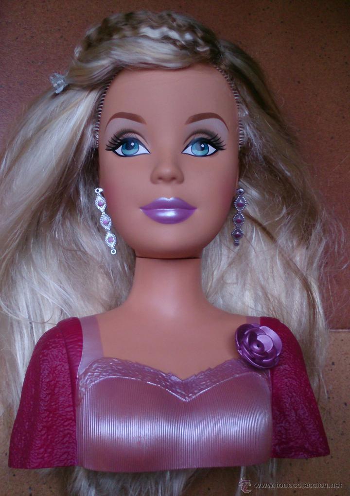 muñeca barbie cabeza para peinar y maquillar, - comprar muñecas