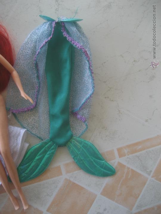 Barbie y Ken: Lote de preciosa muñeca Barbie sirenita Ariel, con cola y vestido de novia - impecable ! - Foto 4 - 52457502