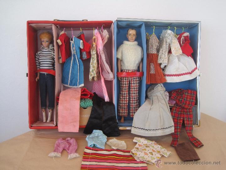 Barbie y Ken: PRECIOSA BARBIE 1958 AND KEN 1960, CON ARMARIO, VESTIDOS Y ZAPATOS. (MUY REBAJADO) - Foto 7 - 52476314