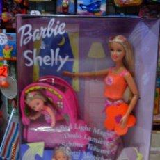 Barbie y Ken: BARBIE Y SHELLY SUEÑOS LUMINOSOS.CAMITA CON LUZ Y PEGATINAS FLUORESCENTES.AÑO 2003.NUEVO EN CAJA.. Lote 143695225