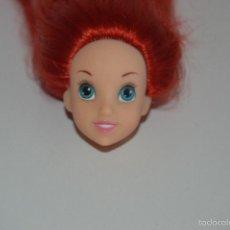 Barbie y Ken: CABEZA DE MUÑECA BARBIE ARIEL LA SIRENITA DISNEY. Lote 57528359