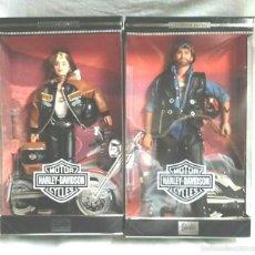 Barbie y Ken: BARBIE Y KEN HARLEY DAVIDSON CYCLES EDICIÓN COLECCIÓN AÑO 99, NUEVO A ESTRENAR. Lote 57896808