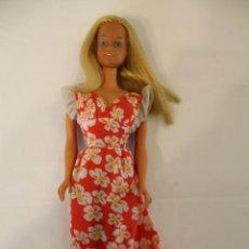 Barbie e Ken: BARBIE MALIBU VINTAGE. ANTIGUA ORIGINAL DE LOS AÑOS 60/70. NO REPRO. CON VESTIDO ORIGINAL.. Lote 64408263