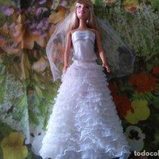Barbie y Ken: BARBIE CON VESTIDO DE BODA. Lote 69929301