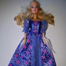 Barbie y Ken - MUÑECA BARBIE RUBIA CON VESTIDO DE PRINCESA AZUL - 70039281