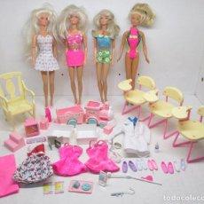 Barbie y Ken - Lote 4 muñecas Barbie de Mattel + vestidos y accesorios - 77653786