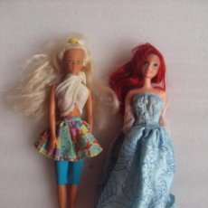 Barbie y Ken: DOS MUÑECAS BARBIE, FAMOSA Y DISNEY MATTEL 1995. Lote 78304977