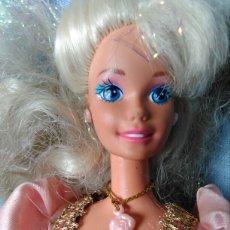 Barbie e Ken: BARBIE MATTEL AÑOS 90 CON VESTIDO REGALO DE PRINCESA RAPUNZEL. Lote 78834545