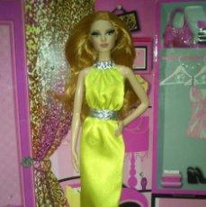Barbie y Ken: PRECIOSA BARBIE BASICS RED CARPET YELLOW GOWN LOUBOUTIN MODEL MUSE - 2014. Lote 95091907