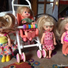 Barbie y Ken: 4 SHELLY MÁS CARRICOCHE , MATTEL BARBIE AÑO 1994. Lote 98853775