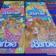 Barbie y Ken: PEGA Y COLOREA CON BARBIE NºS 1 2 3 4 NUEVOS SIN PEGAR. EDICIONES SUSAETA 1992. RAROS.. Lote 103405587