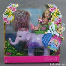 Barbie y Ken: SHELLY BARBIE THE ISLAND PRINCESS PRINCESA ANIMALES MATTEL 2007 MUÑECA NUEVA EN CAJA. Lote 107103967