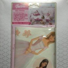Barbie y Ken: LOTE DE 33 VINILOS DE DECORACIÓN PARED BARBIE - DECOFUN / MATTEL 2005 - NUEVO SIN ABRIR RARO. Lote 108709876