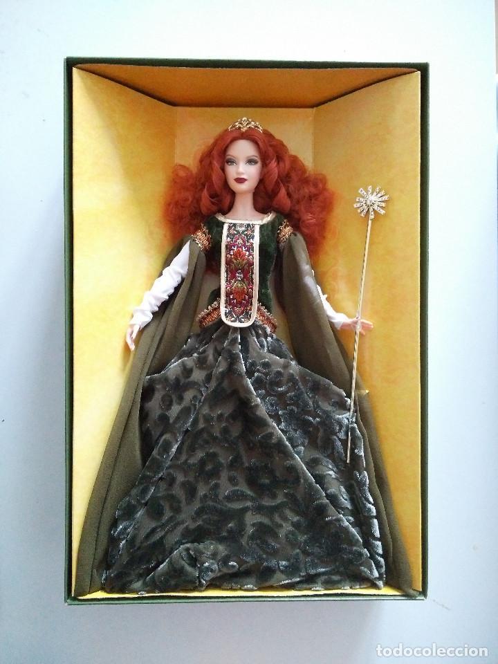 Barbie y Ken: Detalles de Deirdre of Ulster Barbie Doll Legends of Ireland Platinum Label 2007 # K7977 NRF - Foto 3 - 109164975