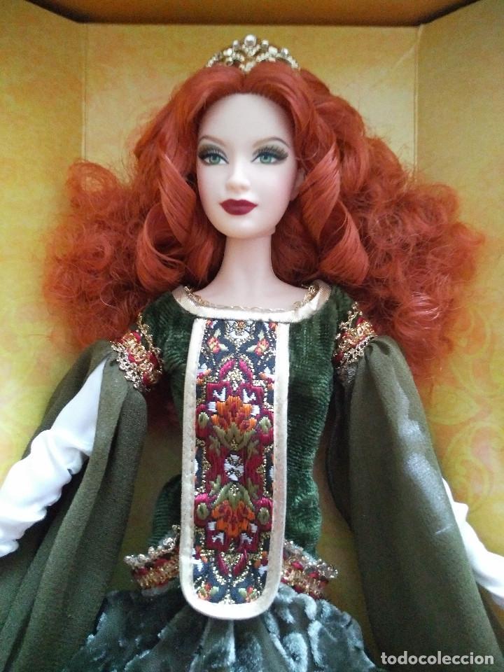 Barbie y Ken: Detalles de Deirdre of Ulster Barbie Doll Legends of Ireland Platinum Label 2007 # K7977 NRF - Foto 4 - 109164975