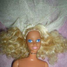 Barbie y Ken: BARBIE MULATA PELO A MECHAS RIZADO MATTEL 1966 ESPAÑA MADE IN SPAIN CONGOST+TRAJE NOVIA. Lote 109926519