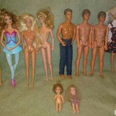 Barbie y Ken: LOTE DE MUÑECOS DE MATTEL. BARBIE, SHELLY, TOMY LEER BIEN. Lote 111382803