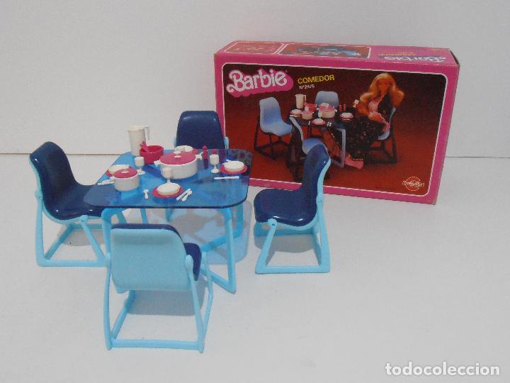 BARBIE, COMEDOR, CAJA ORIGINAL, CASI COMPLETO, MATTEL CONGOST SPAIN (Juguetes - Muñeca Extranjera Moderna - Barbie y Ken)