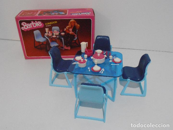 Barbie y Ken: BARBIE, COMEDOR, CAJA ORIGINAL, CASI COMPLETO, MATTEL CONGOST SPAIN - Foto 2 - 111816683