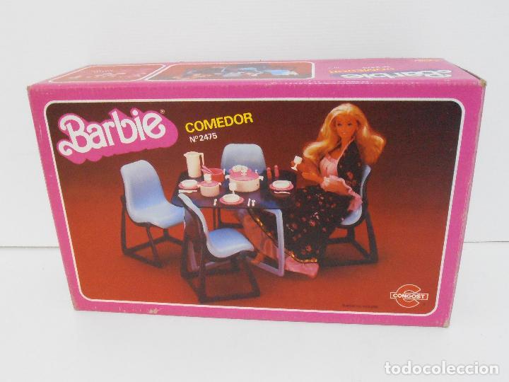 Barbie y Ken: BARBIE, COMEDOR, CAJA ORIGINAL, CASI COMPLETO, MATTEL CONGOST SPAIN - Foto 10 - 111816683