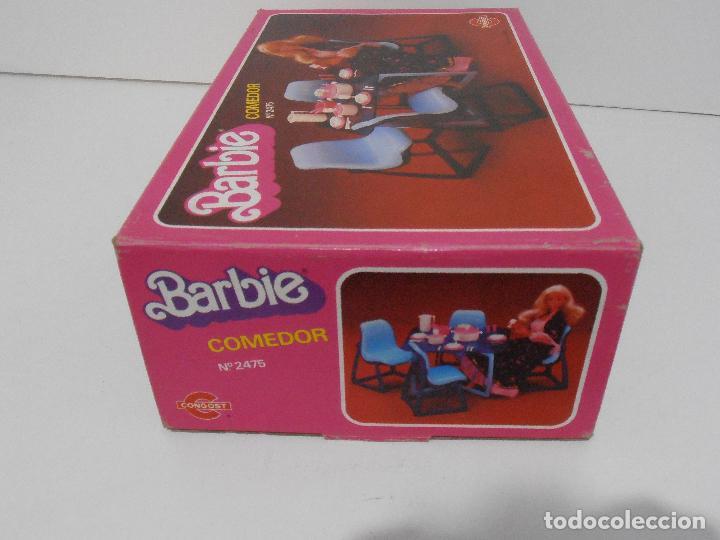Barbie y Ken: BARBIE, COMEDOR, CAJA ORIGINAL, CASI COMPLETO, MATTEL CONGOST SPAIN - Foto 12 - 111816683