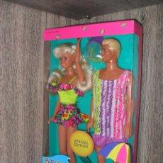 Barbie y Ken: PAREJA BARBIE Y KEN BEACH FUN MATTEL NRFB. Lote 114046171