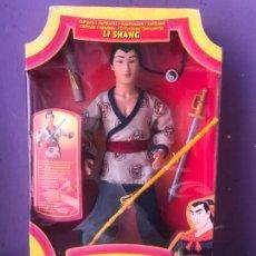 Barbie y Ken: ANTIGUA CAJA CON MUÑECO LI SHANG DE LA PELICULA MULAN DE DISNEY NUEVA DE TIENDA. Lote 129302911