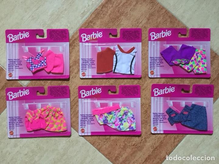 LOTE 6 VESTIDOS BARBIE MI MODA FAVORITA - MATTEL, 1996 - DESCATALOGADO NUEVO A ESTRENAR (Juguetes - Muñeca Extranjera Moderna - Barbie y Ken)