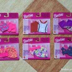 Barbie y Ken: LOTE 6 VESTIDOS BARBIE MI MODA FAVORITA - MATTEL, 1996 - DESCATALOGADO NUEVO A ESTRENAR. Lote 132050563