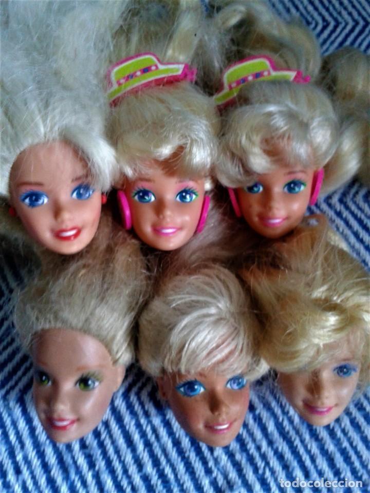 LOTE DE SEIS CABEZAS PERTENECIENTE A BARBIES DE LOS AÑOS 80 (Juguetes - Muñeca Extranjera Moderna - Barbie y Ken)