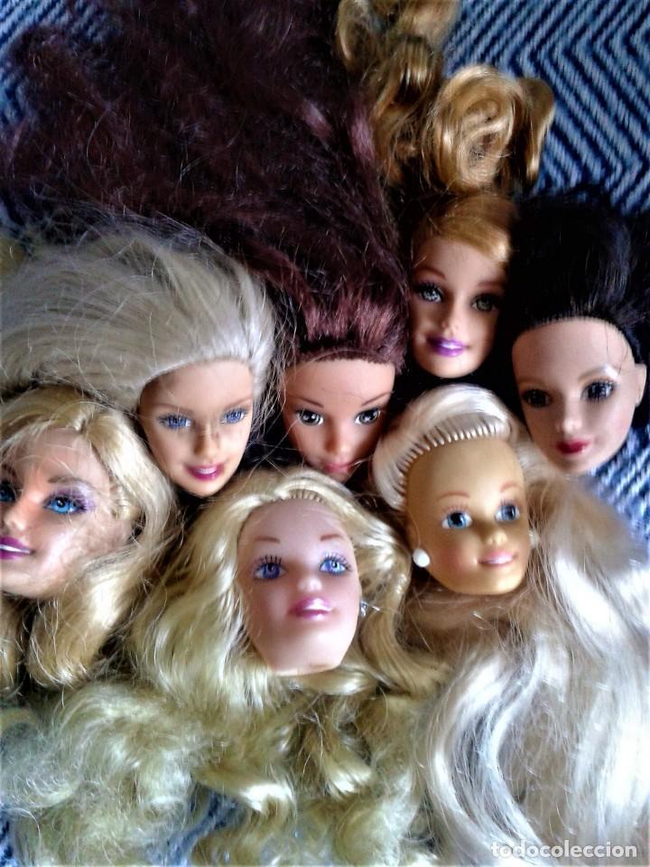 LOTE DE 7 CABEZA PERTENECIENTE A BARBIES ACTUALES (Juguetes - Muñeca Extranjera Moderna - Barbie y Ken)