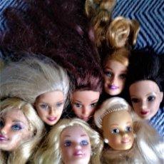 Barbie y Ken: LOTE DE 7 CABEZA PERTENECIENTE A BARBIES ACTUALES . Lote 134805838