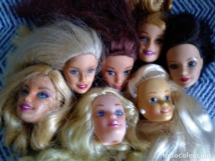 Barbie y Ken: LOTE DE 7 CABEZA PERTENECIENTE A BARBIES ACTUALES - Foto 2 - 134805838