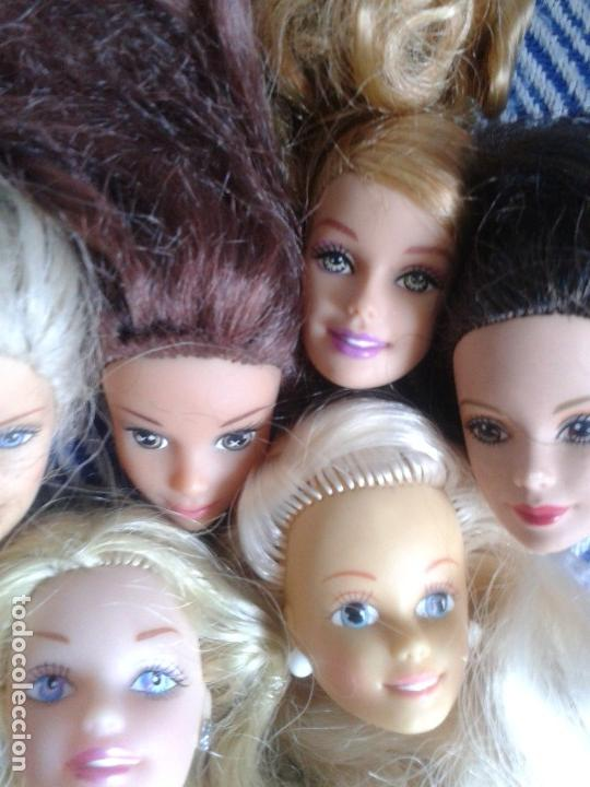 Barbie y Ken: LOTE DE 7 CABEZA PERTENECIENTE A BARBIES ACTUALES - Foto 3 - 134805838