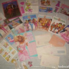 Barbie y Ken: LOTE CLUB BARBIE 1991; POSTER, SOBRE, CALENDARIO, REVISTA, FOLLETO. LEER DESCRIP. VER FOTOS. Lote 139635858