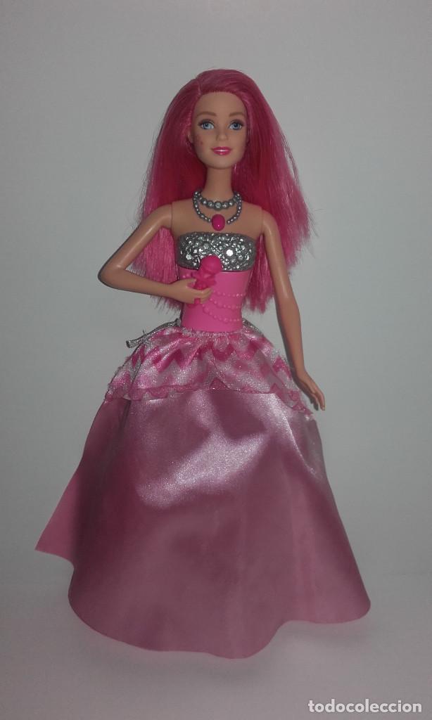 MUÑECA BARBIE COURTNEY PELICULA LA PRINCESA Y LA CANTANTE DE MATTEL FUNCIONANDO (Juguetes - Muñeca Extranjera Moderna - Barbie y Ken)