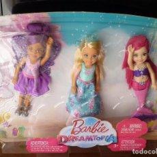 Barbie y Ken: BARBIE PACK 3 CHELSEA BARBIE DREAMTOPIA-NUEVO EN SU CAJA. Lote 143710638