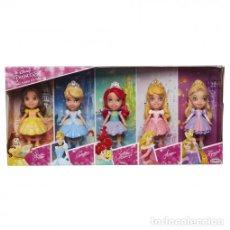 Barbie y Ken: SET DE 6 MINI PRINCESAS DISNEY NUEVAS EN CAJA. Lote 143775758