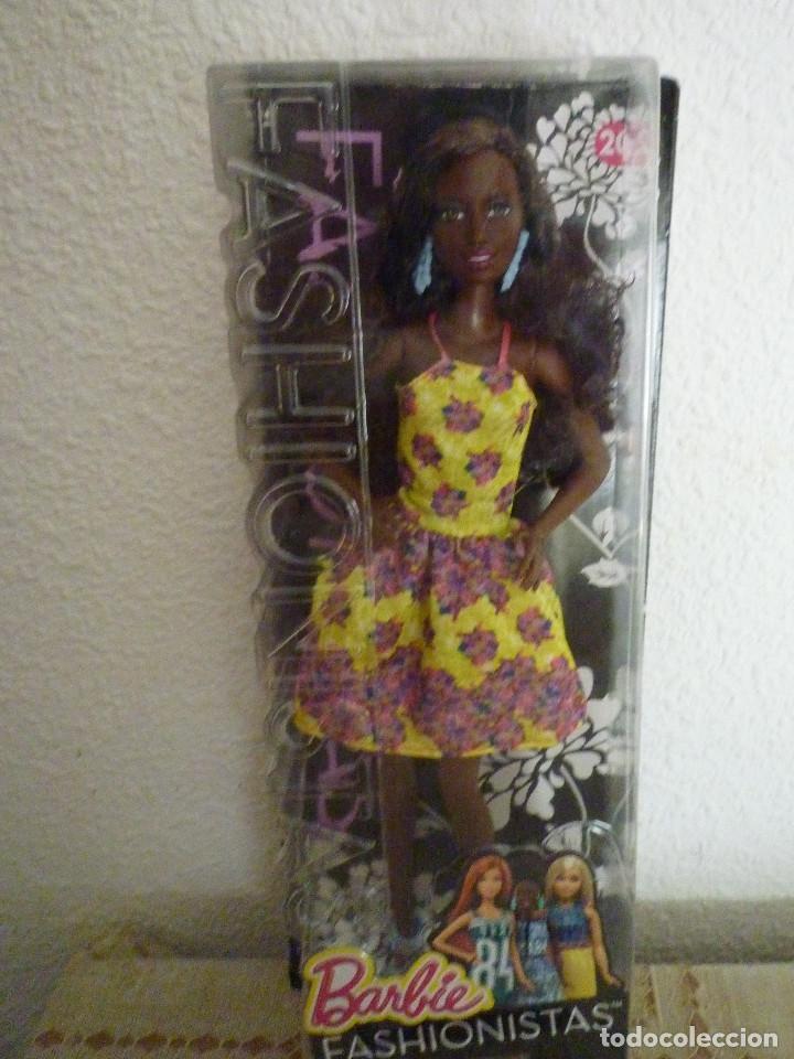 BARBIE FASHIONISTA 2015 FANCY FLOWERS AFRICANA Nº 20-MATTEL-NUEVA EN SU CAJA Y DIFICIL RESERVADA (Juguetes - Muñeca Extranjera Moderna - Barbie y Ken)