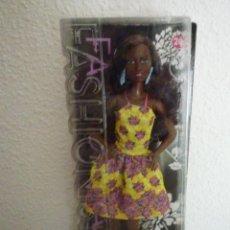 Barbie et Ken: BARBIE FASHIONISTA 2015 FANCY FLOWERS AFRICANA Nº 20-MATTEL-NUEVA EN SU CAJA Y DIFICIL RESERVADA. Lote 144937070
