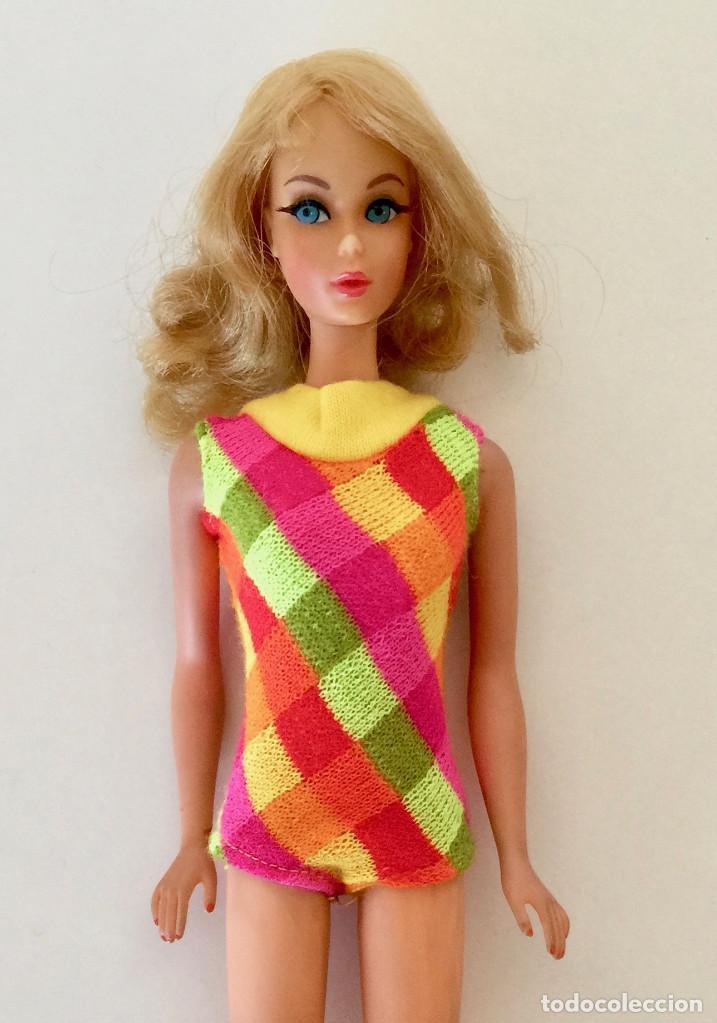Barbie y Ken: MUÑECA BARBIE RUBIA DE MATTEL 1966-1967 VINTAGE CON VESTIDO ORIGINAL - Foto 2 - 150397250