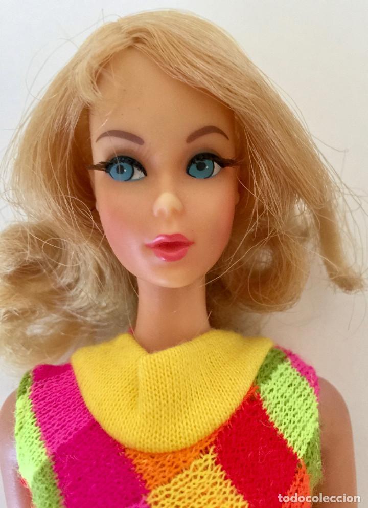 Barbie y Ken: MUÑECA BARBIE RUBIA DE MATTEL 1966-1967 VINTAGE CON VESTIDO ORIGINAL - Foto 3 - 150397250