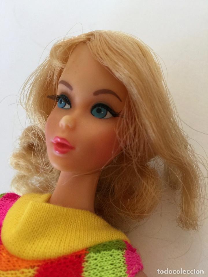Barbie y Ken: MUÑECA BARBIE RUBIA DE MATTEL 1966-1967 VINTAGE CON VESTIDO ORIGINAL - Foto 5 - 150397250
