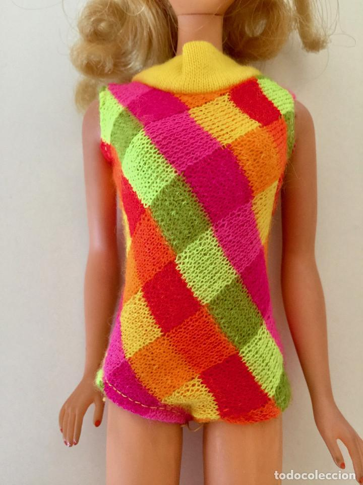Barbie y Ken: MUÑECA BARBIE RUBIA DE MATTEL 1966-1967 VINTAGE CON VESTIDO ORIGINAL - Foto 6 - 150397250