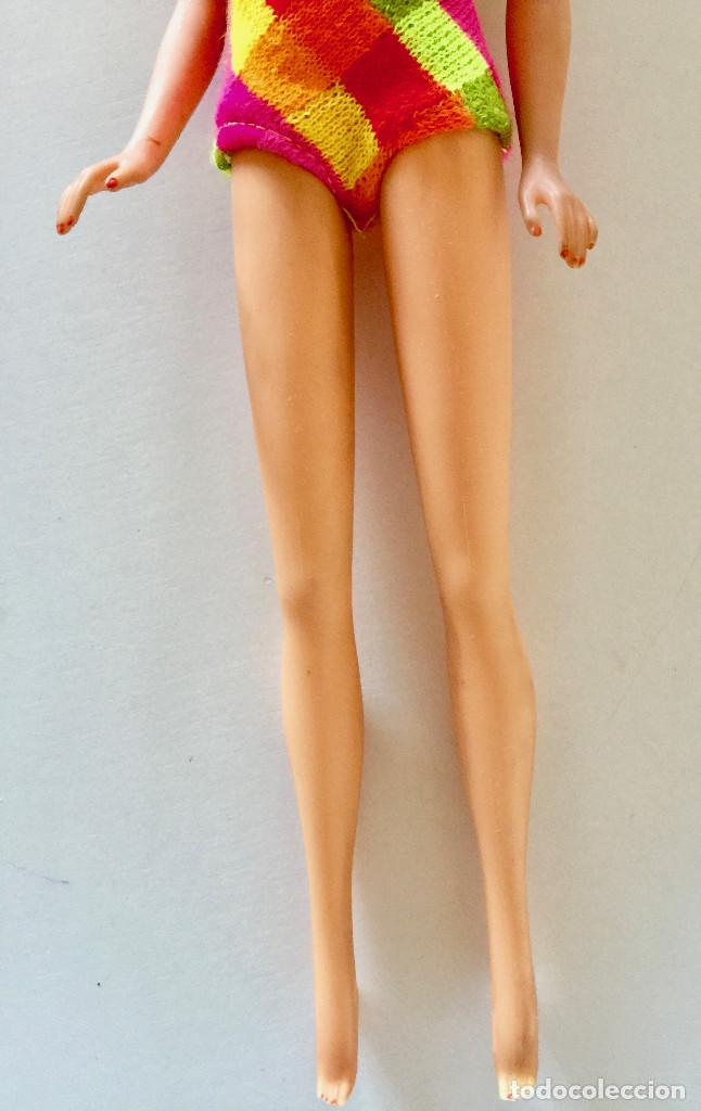 Barbie y Ken: MUÑECA BARBIE RUBIA DE MATTEL 1966-1967 VINTAGE CON VESTIDO ORIGINAL - Foto 8 - 150397250
