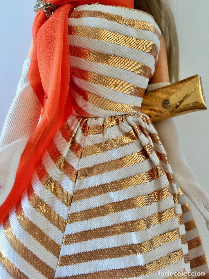 Barbie y Ken: BARBIE RUBIA MATTEL 1965-67 ORIGINAL VINTAGE VESTIDO GALA LAMÉ PAÑUELO LARGO BOLSO GUANTES ZAPATOS - Foto 7 - 150437946